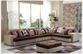 PROMME 5 PCS FLANNEL SOFA SET / Europe style sofa / Chair / Soild wood / Living room sofa / Sofa seat / Cotton sofa / Table / Side table / Ref -110