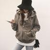 [送料無料]★韓国ファッション通販業界1位 『Naning9』★ワイルドフードジップアップ/ おしゃれなシルエットのファッションコーデー提案!ハイクォリティー/韓国ファッション/オフィスルック/ レ