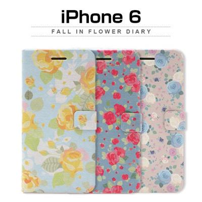 iPhone6カバーアイホン6 アイフォン6ケースiphoneケース アイフォン ブランド iphoneカバーiPhone6用 【iPhone6 4.7インチ】 Happymori Fall in flower Diary (フォールインフラワーダイアリー)【レビューを書いてメール便送料無料】の画像
