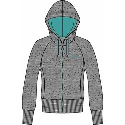プーマ(PUMA) スウェットジャケット 512352 02 ミディアム グレイ ヘザー 【レディース トレーニングウェア ランニング 長袖】の画像