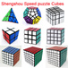 New Brand Shengshou Children toys Magic Cube/2x2x2/3x3x3/4x4x4/5x5x5 Mirror Blocks/Dodecahedron Megaminx/Pyraminx/Rubiks Cube Speed Puzzle Cubes Special Toys for Kids IQ Test Educational Christma