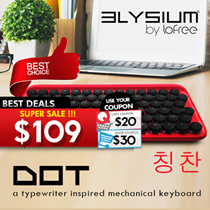 New Elysium Dot! The 1st  MAC + IOS + Win COMPATIBLE Bluetooth Mechanical Keyboard. Pair Up to 3 Devices. Wired / Wireless Dual Mode. Easy Switch Between Devices! Coupon Applicable!