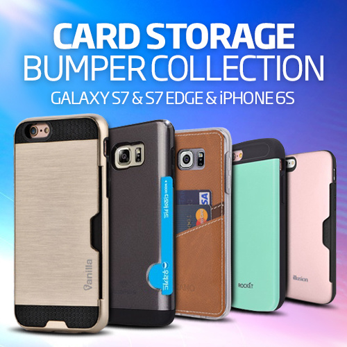 [Q-commerce] Card Pocket Case?NEW! iPhone 7/7 Plus/6S/GalaxyS7/Edge/J7Prime/A5/A7/2017/Note5/4/3/V20 Deals for only S$19.9 instead of S$19.9