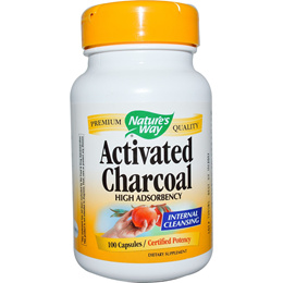 Natures Way Activated Charcoal 100 Capsules