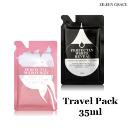 [Eileen Grace]  Black / Rose Jelly Mask Travel Pack 35ml♥Remove Dirt♥Wound Healing/Repair Dull Skin♥Moisturizing♥Whitening♥