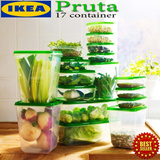 IKEA Pruta 17 Container (original) -17 Set in One Wadah Penyimpan Transparant