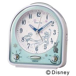 SEIKO CLOCK(セイコークロック) ディズニー アナと雪の女王 ディズニータイム クオーツ目覚まし時計(白パール塗装) FD475W