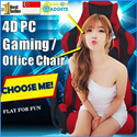 ♥Local Seller♥Store Pickup!♥FREE GIFTS!♥ 4D GAMING CHAIR FULL ALUMINUM LEG Fully adjustable Seat Armrest Comfortable Computer Desk Chair Seat
