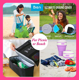 💥Picnic Pocket Blanket/ Sand Toy Bag/Picnic Bag/Swimming organizer Bag/Coating Mesh shopper Bag💥