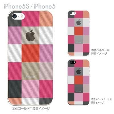 【iPhone5S】【iPhone5】【Clear Arts】【iPhone5ケース】【カバー】【スマホケース】【クリアケース】【チェック】 06-ip5-ca0032pkの画像