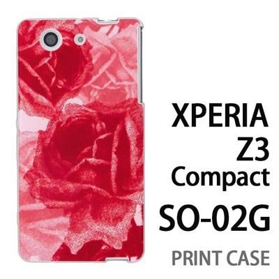 XPERIA Z3 Compact SO-02G 用『0316 擦れバラ ピンク』特殊印刷ケース【 xperia z3 compact so-02g so02g SO02G xperiaz3 エクスペリア エクスペリアz3 コンパクト docomo ケース プリント カバー スマホケース スマホカバー】の画像
