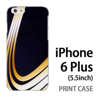iPhone6 Plus (5.5インチ) 用『No3 黄色曲線4本』特殊印刷ケース【 iphone6 plus iphone アイフォン アイフォン6 プラス au docomo softbank Apple ケース プリント カバー スマホケース スマホカバー 】の画像