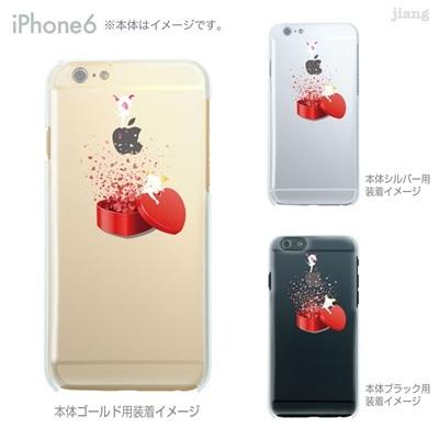 iPhone6 4.7 inch iphone ハードケース Clear Arts ケース カバー スマホケース クリアケース かわいい おしゃれ 着せ替え イラスト ハート エンジェル 01-ip6-ca0153の画像