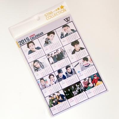 WINNER 2015 カレンダー ミニ シール / スンユン ジンウ ジヌ スンフン ミンホ テヒョン 2015 calendar ウィナー kpop a5サイズの画像