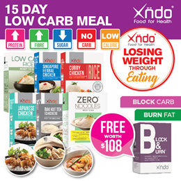 [Bundle of 15days Xndo Low Calories Super Food  Free 30 days Carb block Mango drink