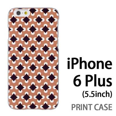 iPhone6 Plus (5.5インチ) 用『No3 丸四角ドット 茶』特殊印刷ケース【 iphone6 plus iphone アイフォン アイフォン6 プラス au docomo softbank Apple ケース プリント カバー スマホケース スマホカバー 】の画像