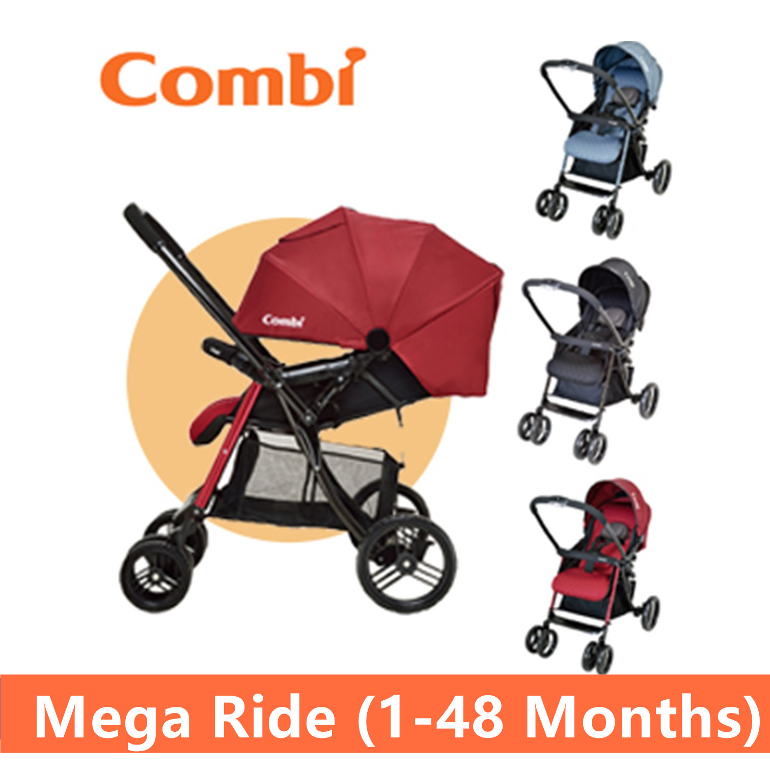 qoo  combi mega ride stroller atype baby stroller ( month to  - show all item images