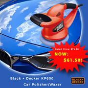 FREE SHIPPING Black and Decker 6-inch 152mm Car Polisher/Waxer KP600