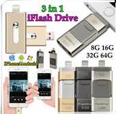 ★IPhone Samsung Tablet PC★Newest i-Flash iFlash Drive HD U-Disk Micro USB interface 3 in 1 OTG USB Drive For iphone 6s Plus 5s Ipad samsung galaxy S6 S5 Note5 Note4 xiaomi HTC Android ios smartphone