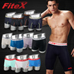 FiteX Mens Ultra Cool Sport Performance Athletic Fashion Light Underwear Boxer Briefs