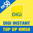[Mobile App Only] Digi instant Top UP RM50[Each mobile number can only top up once per day after 24 Hours]