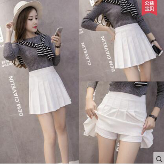 【EMS発送】セール ミニスカート ハイウエスト プリーツスカート キュロットスカート Aラインスカート 白スカート 半身スカート 四季着る 大きいサイズ 韓国ファッション