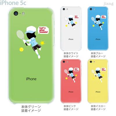 【iPhone5c】【iPhone5c ケース】【iPhone5c カバー】【ケース】【カバー】【スマホケース】【クリアケース】【クリアーアーツ】【テニス】 10-ip5c-ca0093の画像