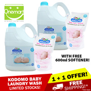 ◄ KODOMO ► Baby Laundry Detergent 3000mlX2 + 600mlX2 Softener★ SPECIALLY FOR WASHING BABY