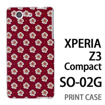 XPERIA Z3 Compact SO-02G 用『0317 フラワードット 赤』特殊印刷ケース【 xperia z3 compact so-02g so02g SO02G xperiaz3 エクスペリア エクスペリアz3 コンパクト docomo ケース プリント カバー スマホケース スマホカバー】の画像