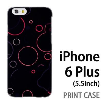 iPhone6 Plus (5.5インチ) 用『No3 丸模様 黒』特殊印刷ケース【 iphone6 plus iphone アイフォン アイフォン6 プラス au docomo softbank Apple ケース プリント カバー スマホケース スマホカバー 】の画像