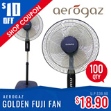 GoldenFuji 16 inch STAND FAN (GF-116) - with 3 Speed Control | Oscillation Function | In Built Night Light | 1 Year Warranty