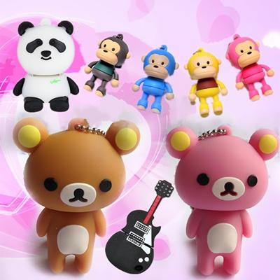 【ZAKZAK】女子に根強い人気!! 【安心国内配送】ミニフィギュア型USBメモリ 4GB・8G☆USB Drive☆熊・サル・ギター・パンダの画像