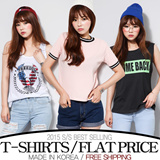 [grey u]★All Flat Price★[FREE SHIPPING]Short Sleeve T-shirts♥Made in KOREA~!]★S/S 2015 Best Selling Premium T-shirts in Korea♥free shipping/Casual Loose fit T-shirts/Basic Design T-shirts/Casual T-shi