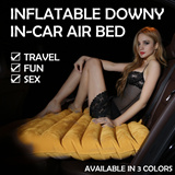 INFLATABLE DOWNY IN-CAR AIR BED MATTRESS * FREE ELECTRIC AIR PUMP * OUTDOOR / TRAVEL / CAR SEX