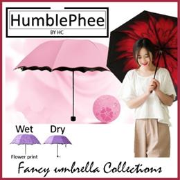 Umbrella Rain Flower Blossom Wet Sunny UV Protection Sports OutdoorColours Designs Free Shipping