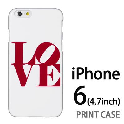 iPhone6 (4.7インチ) 用『0621 love レッド』特殊印刷ケース【 iphone6 iphone アイフォン アイフォン6 au docomo softbank Apple ケース プリント カバー スマホケース スマホカバー 】の画像