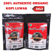 100% Authentic Organic Kopi Luwak Aceh Gayo Indonesia Wild Civet Coffee Arabica Coffee 50gm grounded