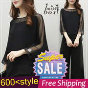 【Free Shipping】600+ style S-7XL NEW PLUS SIZE FASHION LADY DRESS OL BLOUSE PANTS  TOP