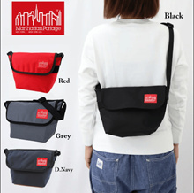 【Manhattan Portage】Unisex Messenger Bag Square type Codura Water Repellant Sling Bag