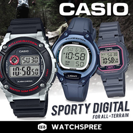 *APPLY 25% OFF COUPON* *CASIO GENUINE* SPORTY DIGITAL WATCHES!  Free Shipping!
