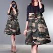 安心の国内配送♥カモフラワンピース♥♥韓国ファッション