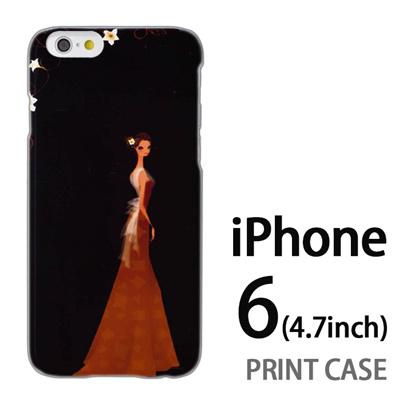 iPhone6 (4.7インチ) 用『0621 ブラウンドレス』特殊印刷ケース【 iphone6 iphone アイフォン アイフォン6 au docomo softbank Apple ケース プリント カバー スマホケース スマホカバー 】の画像