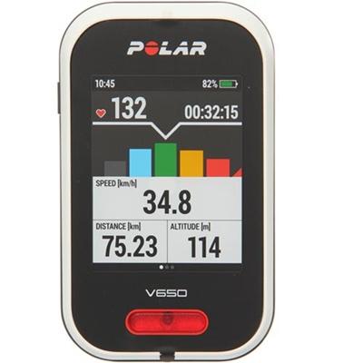 ◆即納◆ポラール(polar) サイクルコンピューター V650 HR (GPS内蔵・心拍センサー付) 日本語対応/日本正規品 90050535 【ロードバイク TTバイク サイコン トライアスロン 自転車】の画像