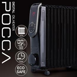 ■送料無料☆デジタルオイルヒーターPOCCA WGDO113BK■タイマー付 暖房 1度単位設定 エコ セーフティ設計