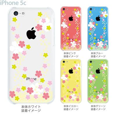 【iPhone5c】【iPhone5cケース】【iPhone5cカバー】【ケース】【カバー】【スマホケース】【クリアケース】【フラワー】【桜】 09-ip5c-flo0002の画像