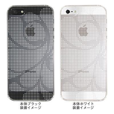 【iPhone5S】【iPhone5】【Clear Arts】【iPhone5Sケース】【iPhone5ケース】【ケース】【カバー】【スマホケース】【クリアケース】【チェック・ボーダー・ドット】【ドットレトロ】【ホワイト】 06-ip5-ca0051i-wの画像