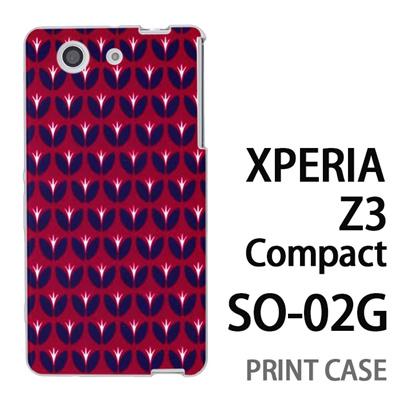 XPERIA Z3 Compact SO-02G 用『0317 花の芽ドット 赤』特殊印刷ケース【 xperia z3 compact so-02g so02g SO02G xperiaz3 エクスペリア エクスペリアz3 コンパクト docomo ケース プリント カバー スマホケース スマホカバー】の画像