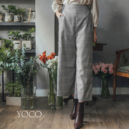 YOCO - Wide Leg Plaid Culottes - 181892