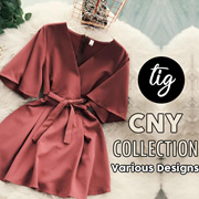TIG SALE ★ CNY COLLECTION ★ FREE SIZE  ★ SIZE S - L ★ FESTIVE OFFICE ★ TRAVEL ★