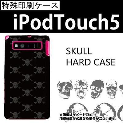特殊印刷/iPodtouch5(第5世代)iPodtouch6(第6世代) 【アイポッドタッチ アイポッド ipod ハードケース カバー ケース】(スカル)CCC-004の画像